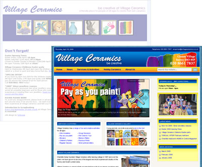 New Village Ceramic website