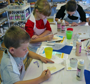 Kids Painting on Kids Painting
