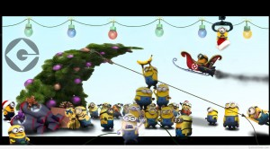 Funny-cover-Christmas-cartoon-with-minions