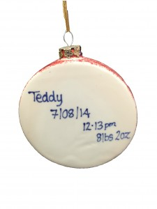 teddy bauble