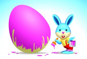 easter-bunny-painting-an-egg-purple